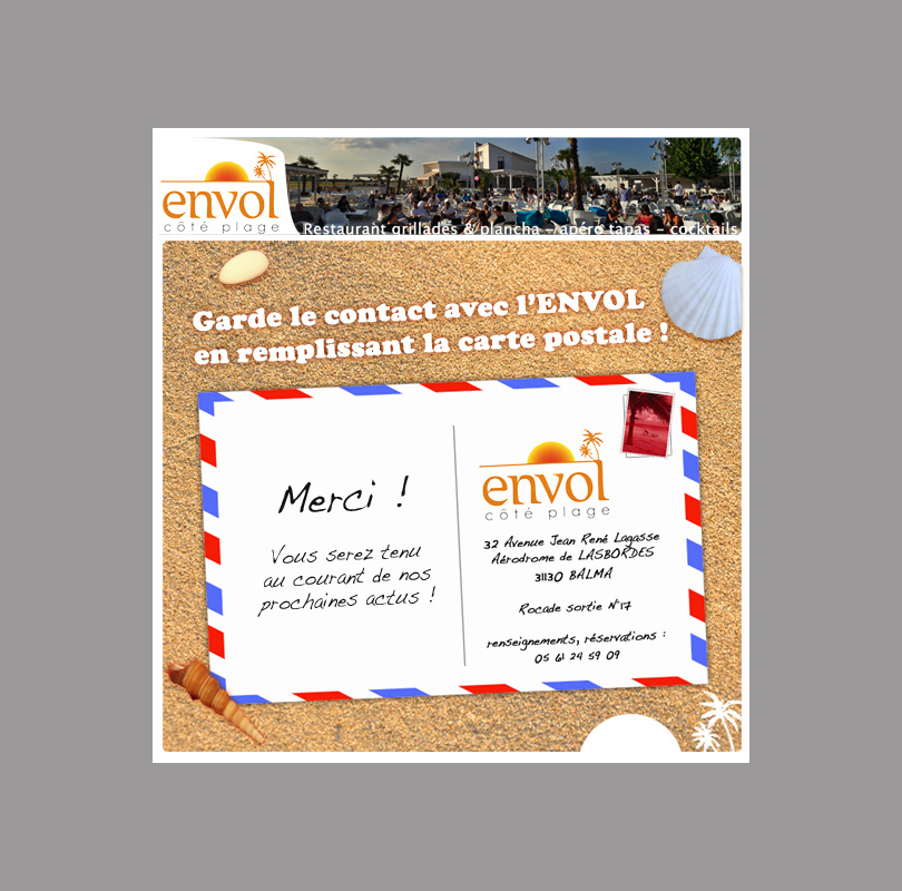 Application Facebook : L'envol Côté Plage